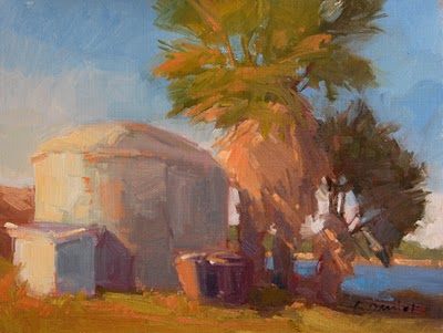 """Harbor Channel"" original fine art by Laurel Daniel"