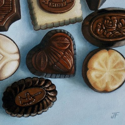 """Chocolate Study: True Blue"" original fine art by Jelaine Faunce"