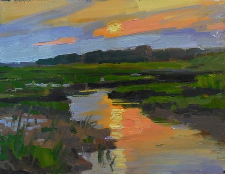 """Save the Bay closing reception"" original fine art by Kathy Weber"