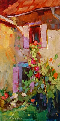 """The Light Falls Softly in France"" original fine art by Dreama Tolle Perry"