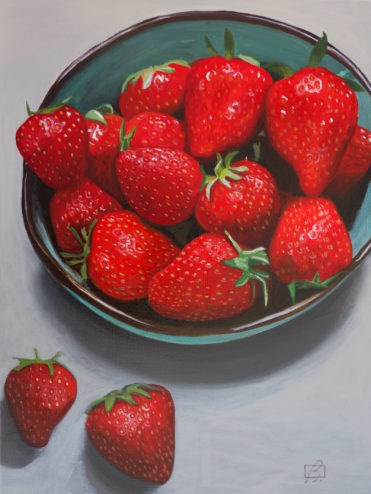 """Strawberries III"" original fine art by Andre Beaulieu"