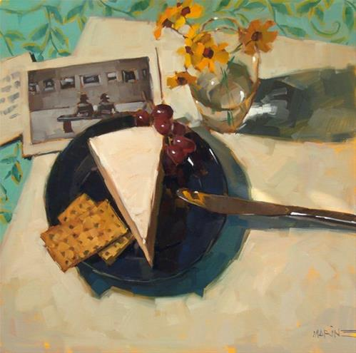 """Crackers and Brie"" original fine art by Carol Marine"