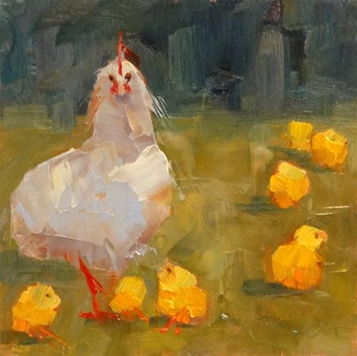 """Chick Magnet"" original fine art by Ann Feldman"