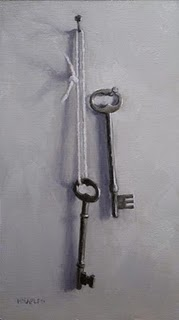 """Two Antique Keys"" original fine art by Michael Naples"