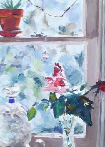 """""""Looking Out"""" original fine art by Linda Lowery"""