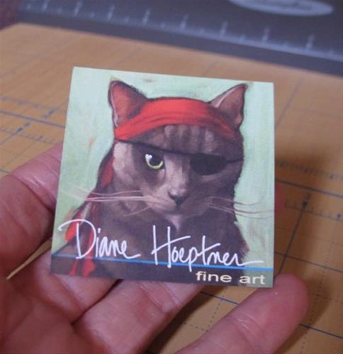 """Coco Cat Art Magnet!"" original fine art by Diane Hoeptner"