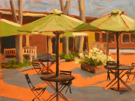 """""""Waiting for Tourists"""" original fine art by Mary McInnis"""