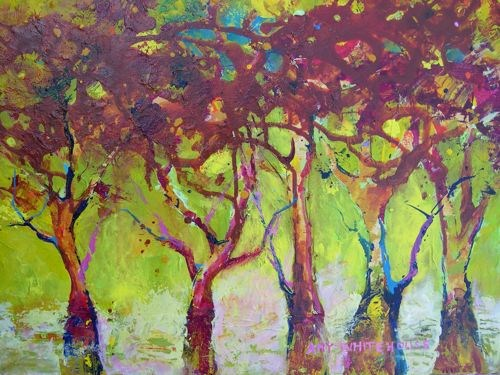 """A Walk in the Park"" original fine art by Amy Whitehouse"
