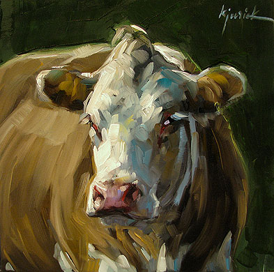 """Cow Girl"" original fine art by Karin Jurick"