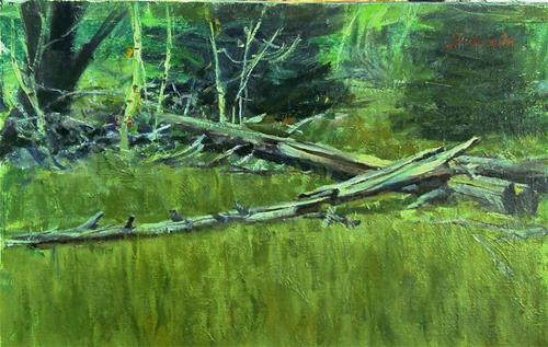 """fallen trees"" original fine art by Richard Schiele"