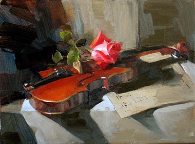 """Rose Concerto 2"" original fine art by Qiang Huang"
