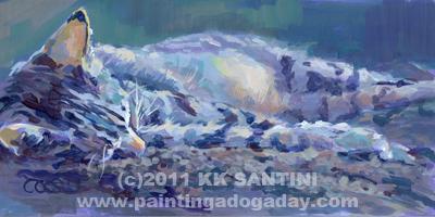 """""""Yowza!"""" original fine art by Kimberly Santini"""