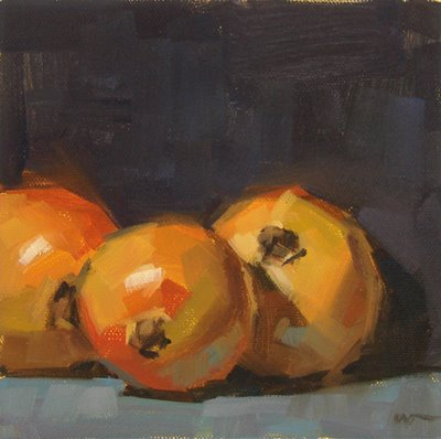 """Three Onions"" original fine art by Carol Marine"