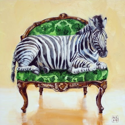 """Mr. Stripes"" original fine art by Kimberly Applegate"