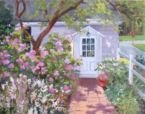 """""""STOP AND SMELL THE ROSES An Original Plein Air Oil Painting by Claire Beadon Carnell"""" original fine art by Claire Beadon Carnell"""