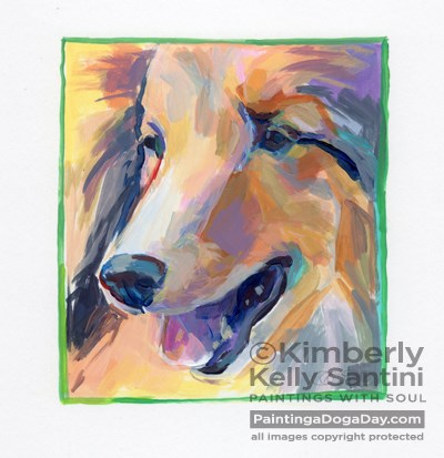 """Keenan, A Painted Sketch"" original fine art by Kimberly Santini"