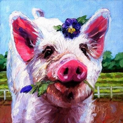 """""""PANSY"""" original fine art by Kristy Tracy"""