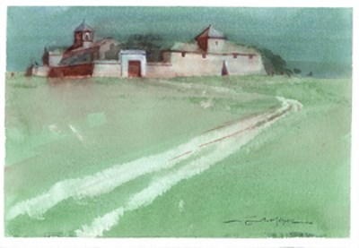 """Seville countryside 9"" original fine art by Emilio López"