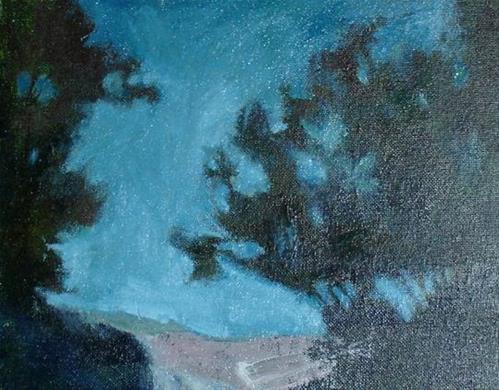 """""""Evening for a Drive"""" original fine art by Susan Hammer"""