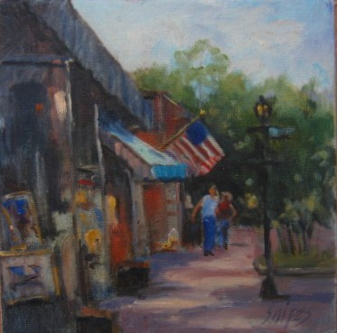 """Corner Art Gallery"" original fine art by Connie Snipes"