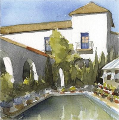 """patio 65"" original fine art by Emilio López"