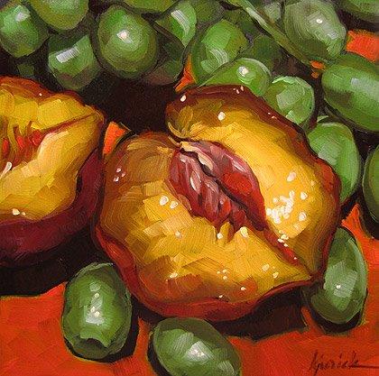 """Juicy Fruit"" original fine art by Karin Jurick"