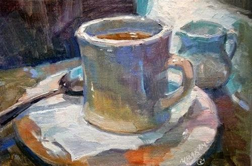 """The Perfect Cup"" original fine art by Mary Maxam"
