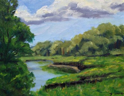 """Barnstable Marsh 2"" original fine art by Debra Kennedy"