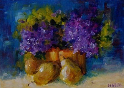 """Purples of Spring"" original fine art by Alice Harpel"