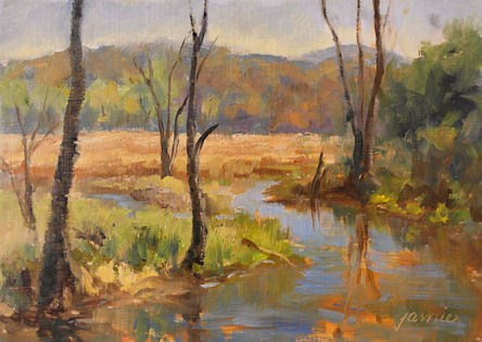 """Spring in the Great Swamp"" original fine art by Jamie Williams Grossman"