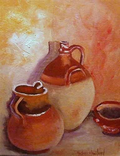 """""""Tuscany Pots Still LIfe"""" original fine art by Barbara Haviland"""