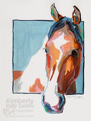 """Smitty, A Painted Sketch"" original fine art by Kimberly Santini"