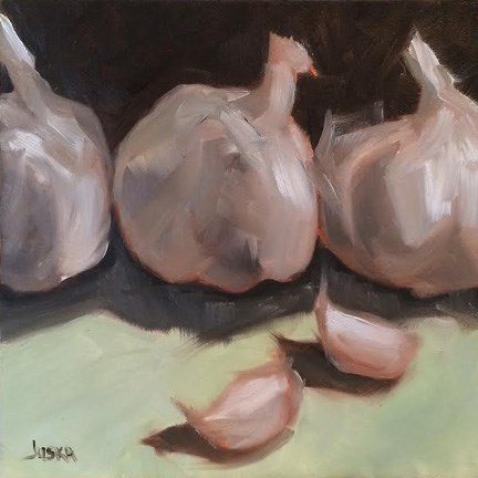 """Garlic"" original fine art by Elaine Juska Joseph"