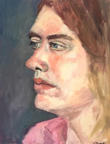 """Blue Eyes"" original fine art by Nava Judith"