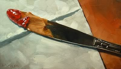 """PB and J Knife"" original fine art by Michael Naples"