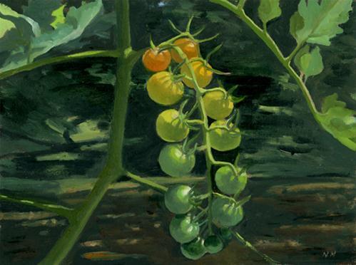 """Sungolds"" original fine art by Nancy Herman"