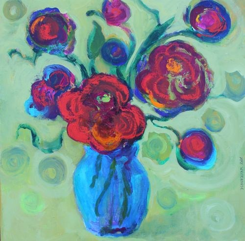 """Go Wild, Contemporary Floral Paintings by Arizona Artist Amy Whitehouse"" original fine art by Amy Whitehouse"