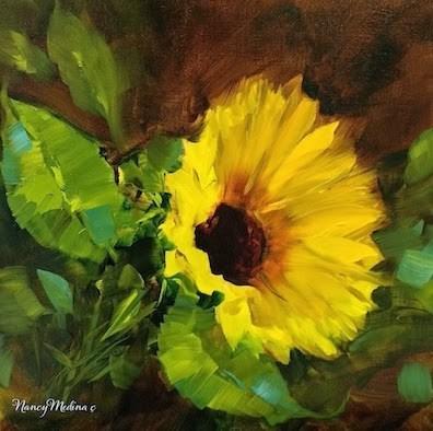 """Sun Siren Sunflower by Floral Artist Nancy Medina"" original fine art by Nancy Medina"