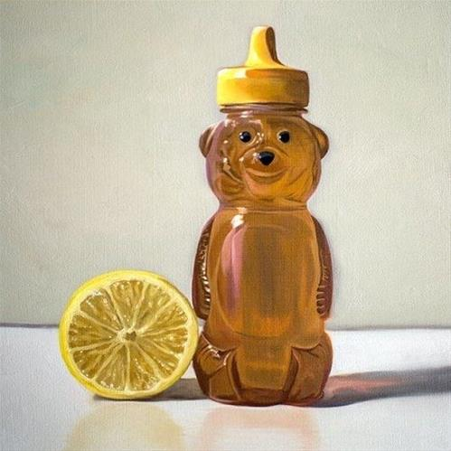 """Honey Bear and Lemon"" original fine art by Lauren Pretorius"