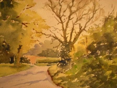 """On the way to Wyck"" original fine art by Graham Findlay"