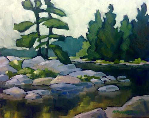 """""""Miller Lake"""" original fine art by Eileen Hennemann"""