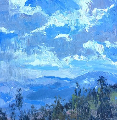 """Cloud Play"" original fine art by kay  keyes farrar"