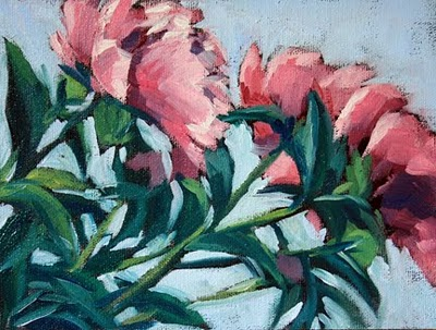 """Summer Peony"" original fine art by Mary Anne Cary"