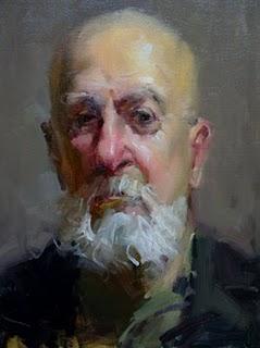"""""""White beard"""" original fine art by Fongwei Liu"""