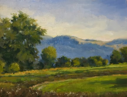 """SOLD 'Zion Road' An Original Oil Painting by Claire Beadon Carnell"" original fine art by Claire Beadon Carnell"