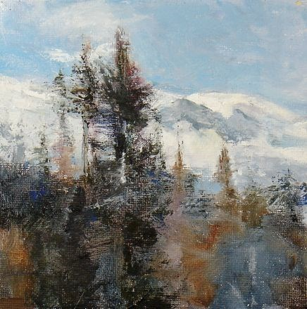 """OVER THE PASS"" original fine art by Susan Hammer"