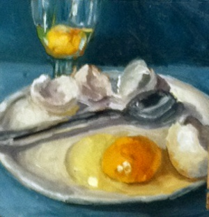 """Breakfast of Champions"" original fine art by Kristen Dukat"