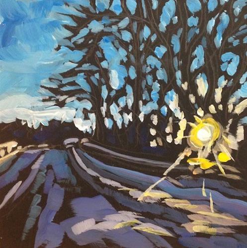 """Afternoon Towards Cedar Lake"" original fine art by Kat Corrigan"