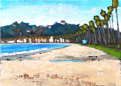 """East Beach Santa Barbara Plein Air"" original fine art by Kevin Inman"