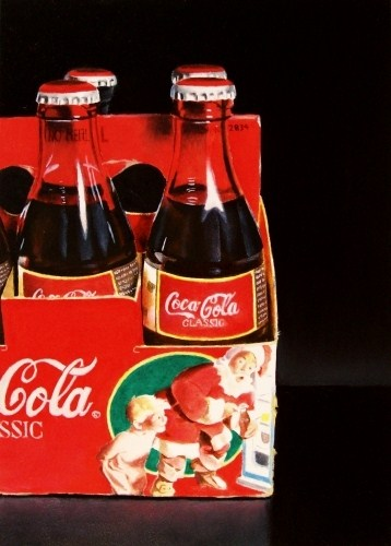 """""""Christmas Coke"""" original fine art by Jacqueline Gnott, whs"""